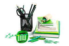 Office and student accessories. Back to school concept. Royalty Free Stock Photography