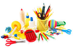 Office and student accessories. Back to school concept. Stock Photography