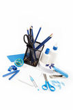 Office and student accessories isolated. Royalty Free Stock Photo