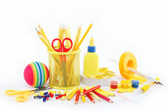 Office and student accessories isolated. Royalty Free Stock Photography
