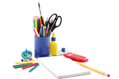 Office and student accessories. Stock Photography