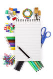 Office or student stationary stock photos