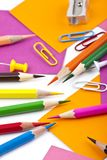 Office and student tool with colorful pencils Stock Image