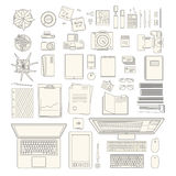 Office stuff collection Royalty Free Stock Photo