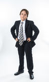 Office style showing by young boy Stock Photos