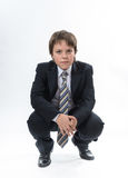 Office style showing by young boy Stock Image