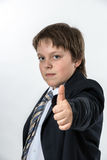 Teenage boy showing thumb up Royalty Free Stock Photography
