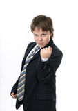 Teenage boy showing fist Royalty Free Stock Photo