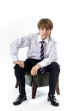 Office style showing by young boy Stock Photography