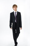 Office style showing by young boy Royalty Free Stock Image