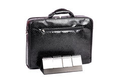 Office suitcase and planner Royalty Free Stock Photo