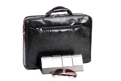 Office suitcase and planner Royalty Free Stock Photos