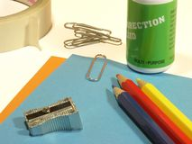 Office supplies. Assorted office supplies Royalty Free Stock Photo