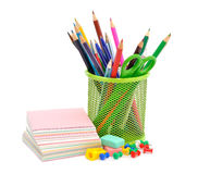 Office Supplies. Isolated on white background Royalty Free Stock Photography