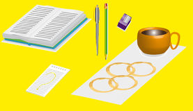 Office supplies 3D.1 Stock Photo