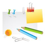 Office supplies. On white background vector illustration Royalty Free Stock Photo