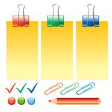 Office supplies. On white background  illustration Stock Image