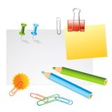 Office supplies. On white background vector illustration Stock Image