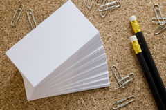 Office supplies. Black lie on cork board Royalty Free Stock Photo