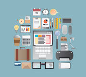 Office supplies and business  Stock Photos