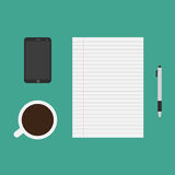 Office supplies or business tools stock illustration