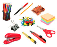 Office supplies collection Royalty Free Stock Photos