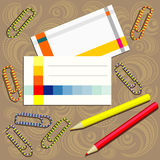 Office supplies composition Royalty Free Stock Image