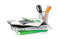 Office supplies and computer devices Stock Photo