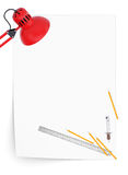 Office supplies. The concept of office work Royalty Free Stock Image