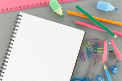 Office Supplies with copyspace Stock Photography