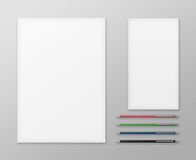 Office Supplies for Designers Presentations and Portfolios. Royalty Free Stock Photo