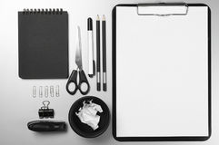 Office supplies on desk Royalty Free Stock Images