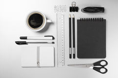 Office supplies on desk Royalty Free Stock Photo