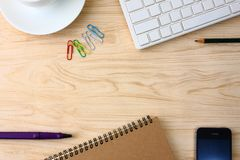 Office Supplies on the office desk stock photography