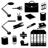 Office supplies. Different Office supplies icon set Stock Photos