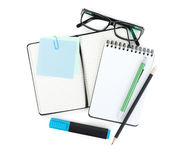 Office supplies and glasses Stock Photo