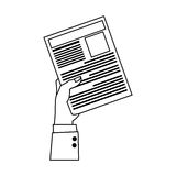 Office supplies icon image. Hand holding document office supplies icon image  illustration design Stock Photo