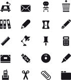 Office supplies icon set Stock Images