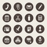 Office supplies icons set Royalty Free Stock Image