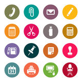 Office supplies icons set Royalty Free Stock Photography