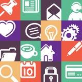Office Supplies Icons Set stock illustration