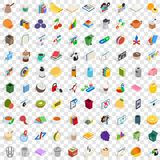 100 office supplies icons set, isometric 3d style. 100 office supplies icons set in isometric 3d style for any design vector illustration Royalty Free Stock Photo