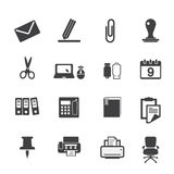 Office supplies icons set Stock Photos