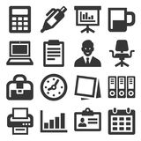 Office Supplies Icons Set on White Background. Vector Royalty Free Stock Photography