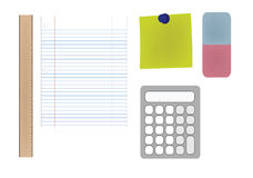 Office Supplies Illustration Royalty Free Stock Photo