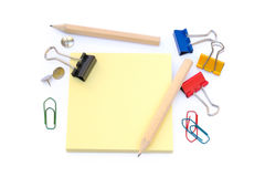 Office supplies isolated Royalty Free Stock Photography