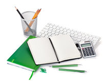 Office supplies, keyboard and calculator Stock Image