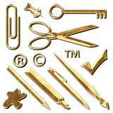 Office Supplies Metal Illustration Stock Photo