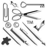 Office Supplies Metal Illustration Royalty Free Stock Photo