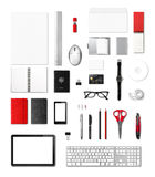 Office supplies mockup template, white background Royalty Free Stock Photo